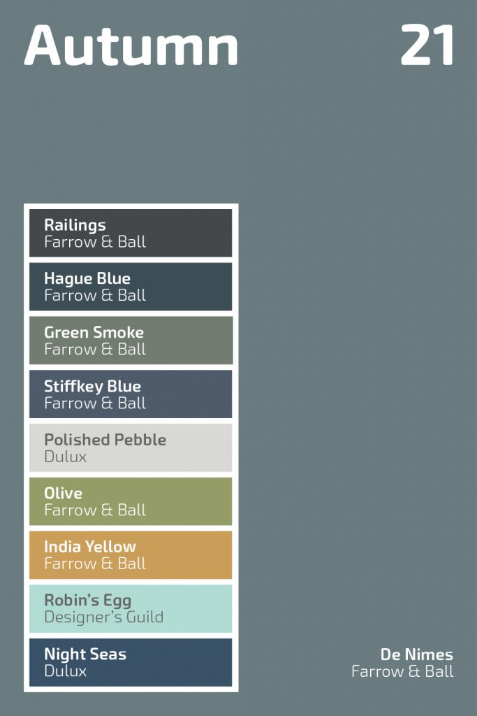 Autumn 2021 Colour Palette