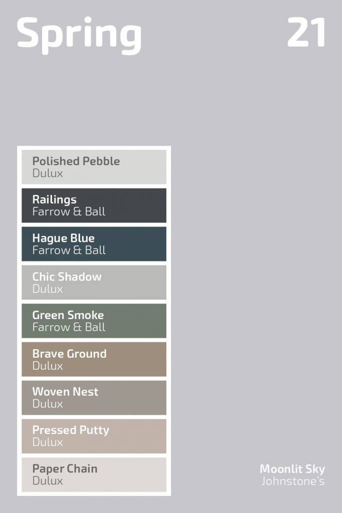 Spring 2021 colour palette