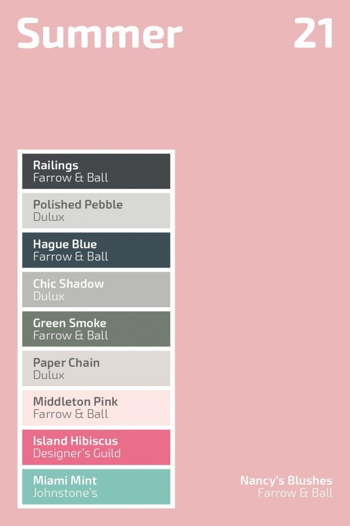 Summer 2021 Colour Palette