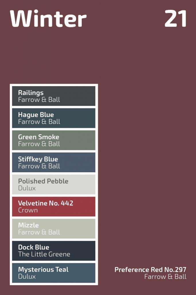 Winter 2021 Colour Palette